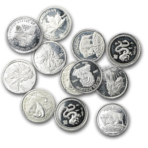 1 gram Silver Rounds - Secondary Market