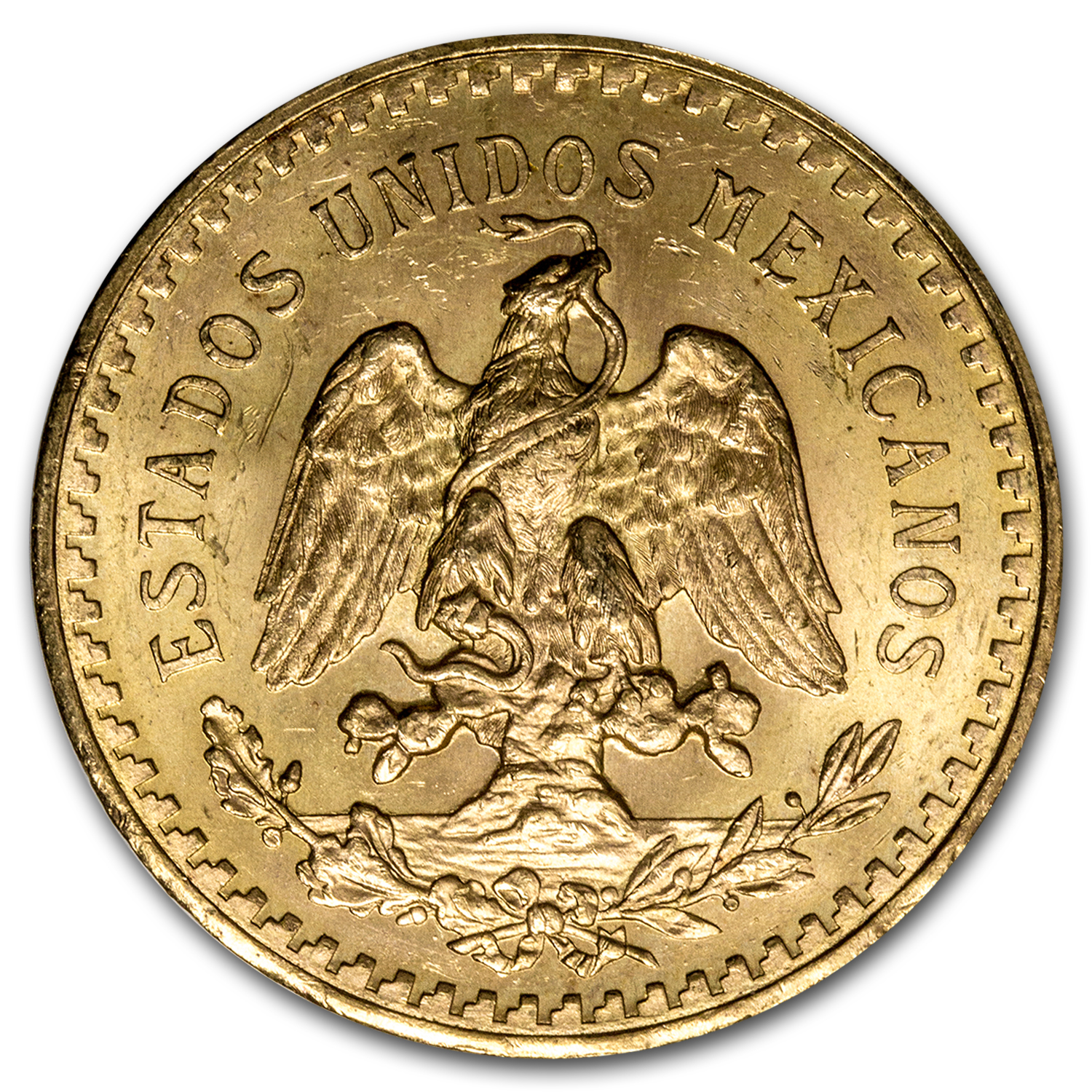 1943 Mexico Gold 50 Pesos BU