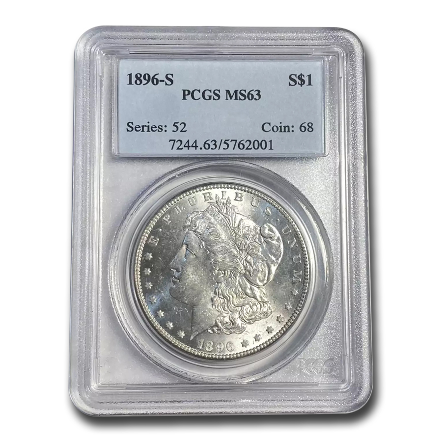 1896-S Morgan Dollar MS-63 PCGS