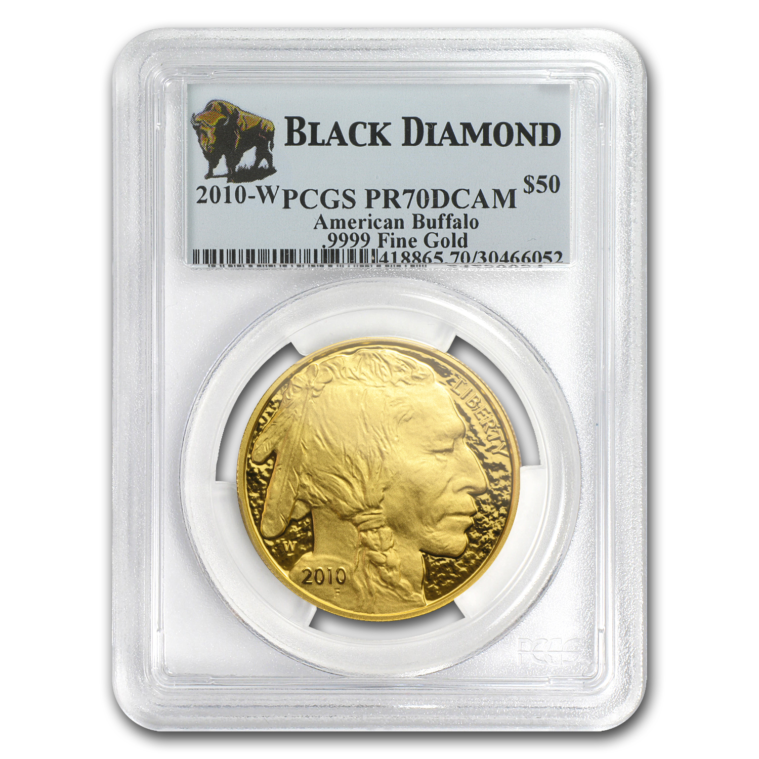 2010-W 1 oz Proof Gold Buffalo PR-70 PCGS (Black Diamond)