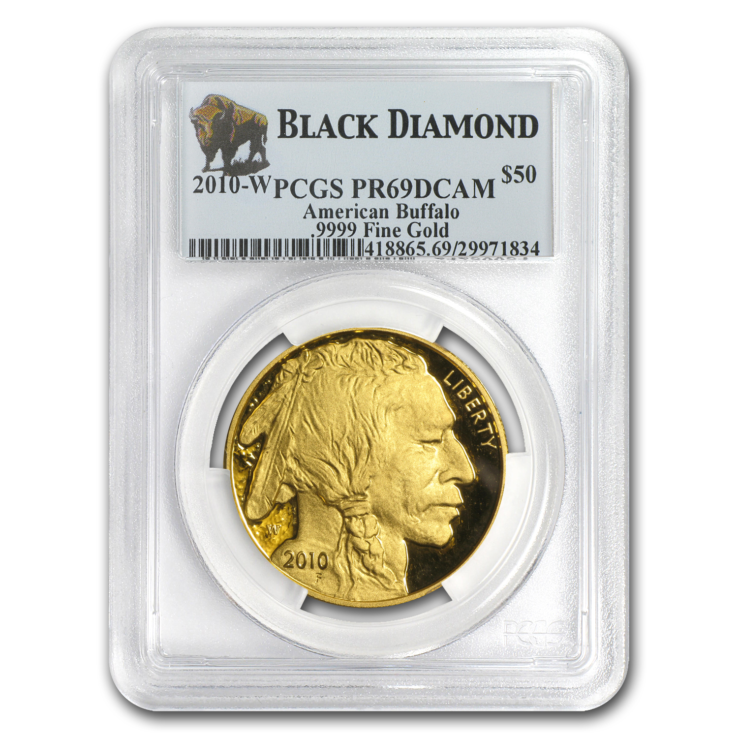 2010-W 1 oz Proof Gold Buffalo PR-69 PCGS (Black Diamond)