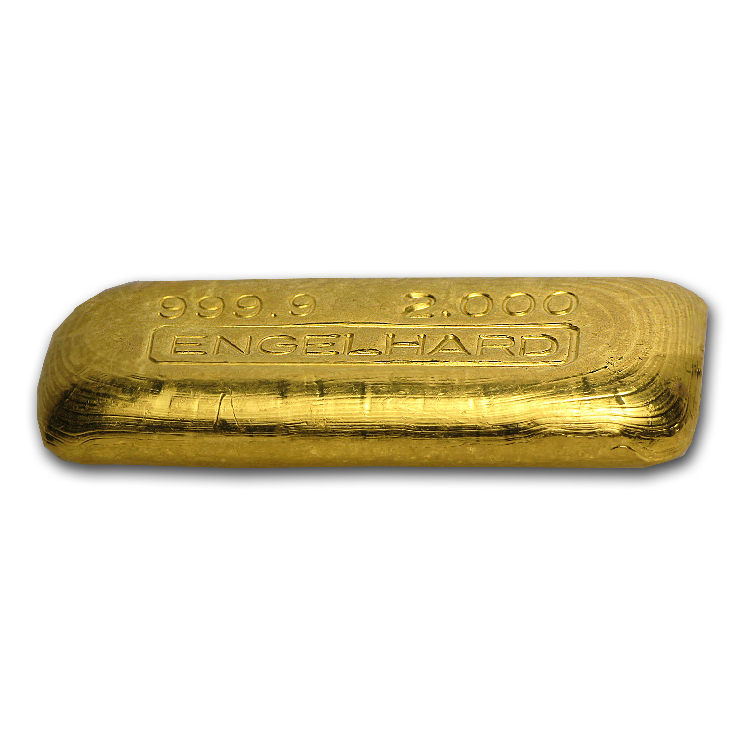 2 oz Gold Bar - Engelhard (Poured, .9999 Fine)