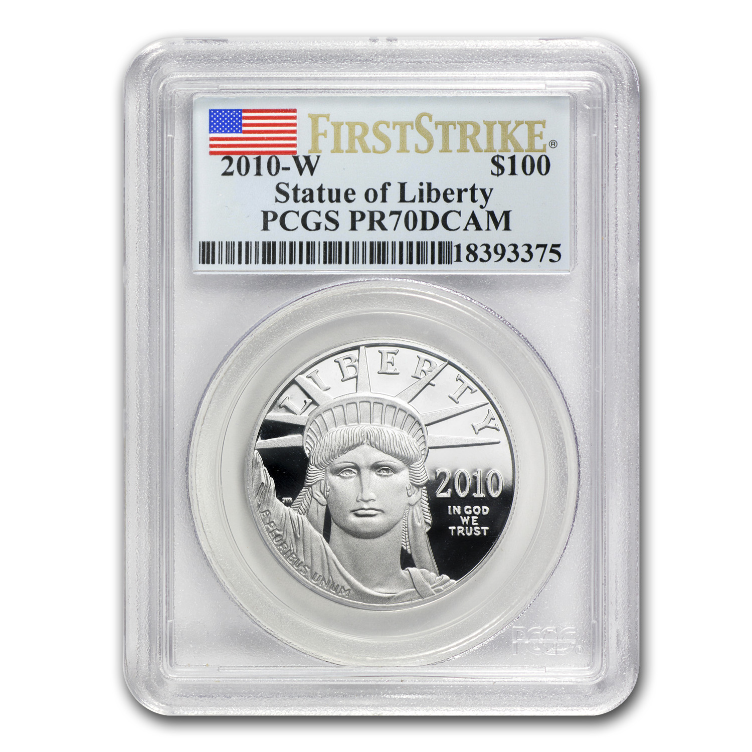 2010-W 1 oz Prf Platinum American Eagle PR-70 PCGS (First Strike)