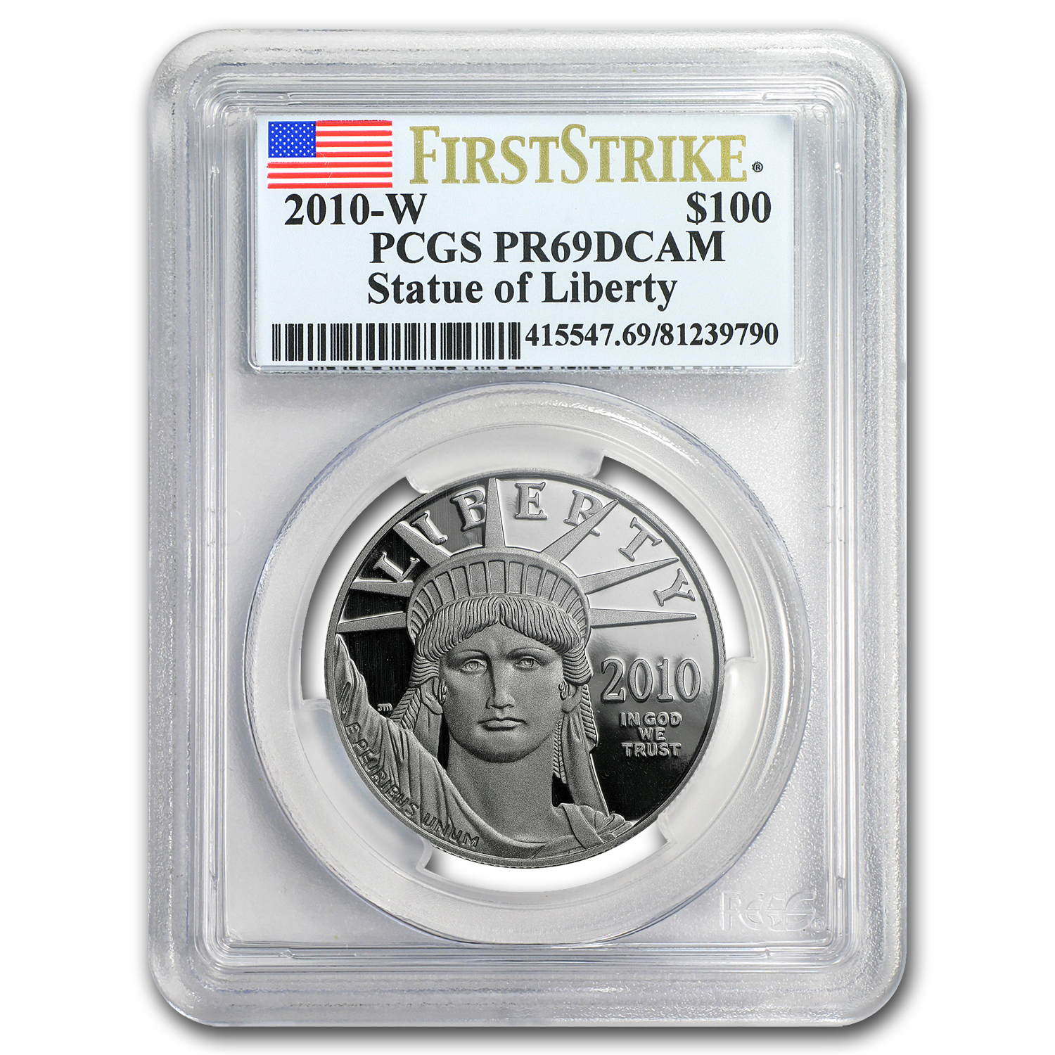 2010-W 1 oz Proof Platinum American Eagle PR-69 PCGS (FS)