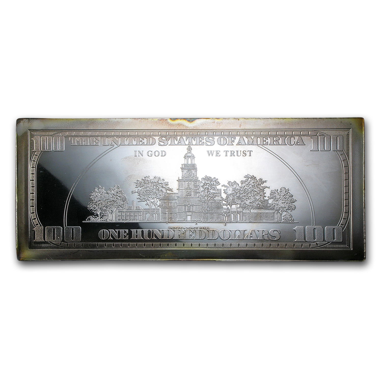 4 oz Silver Bar - $100 Bill (Replica, w/Box & COA)