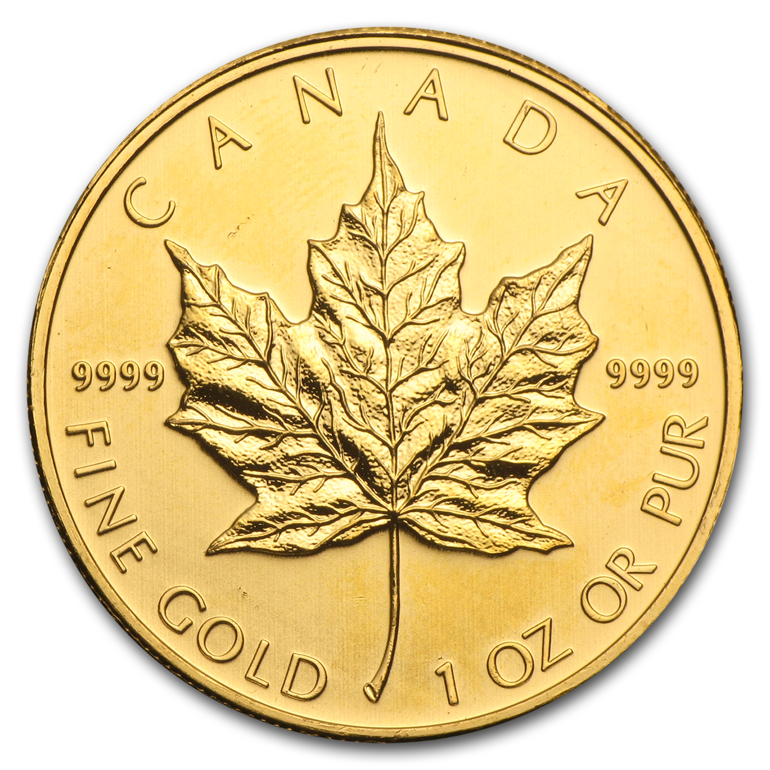 2011 1 oz Gold Canadian Maple Leaf BU