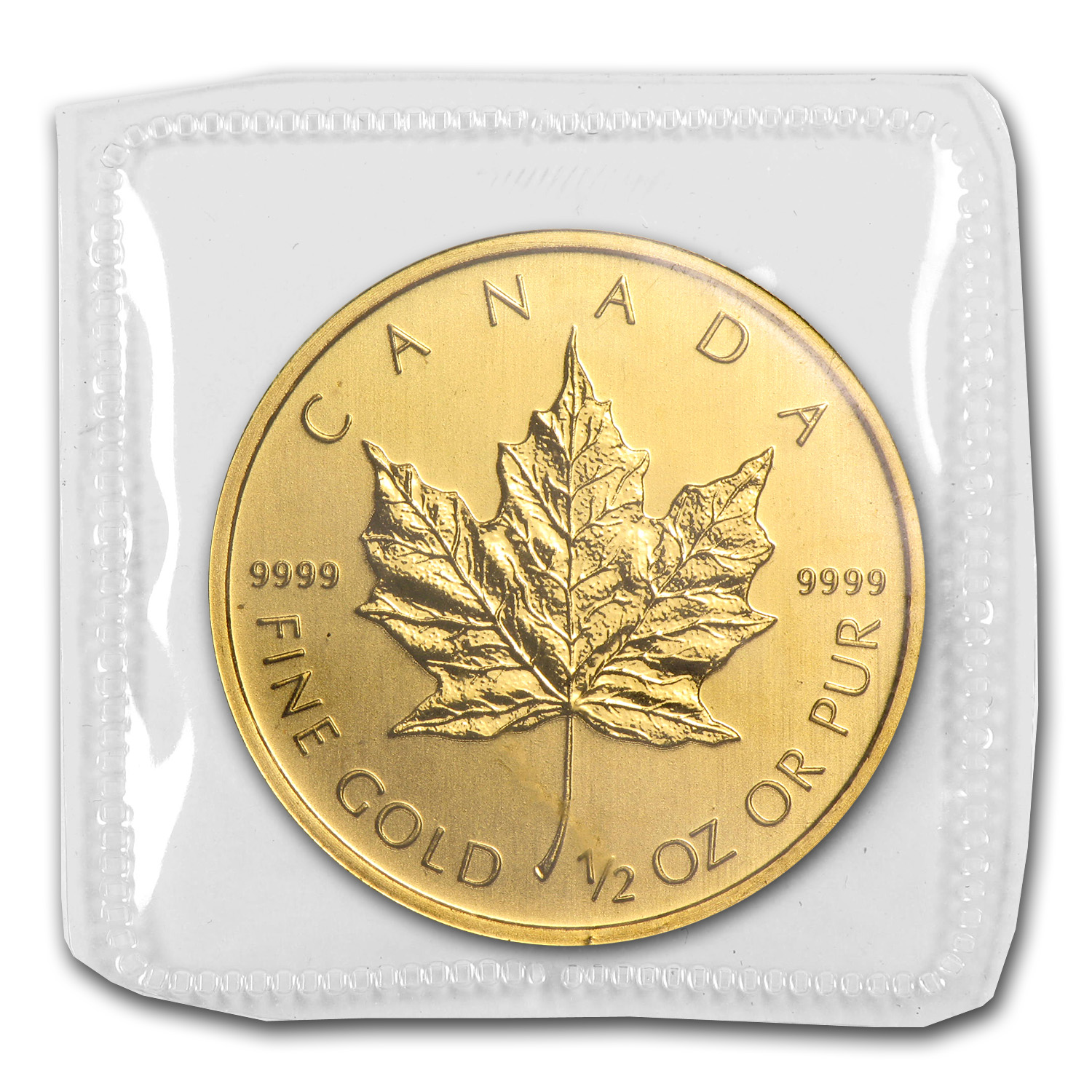 2011 1/2 oz Gold Canadian Maple Leaf