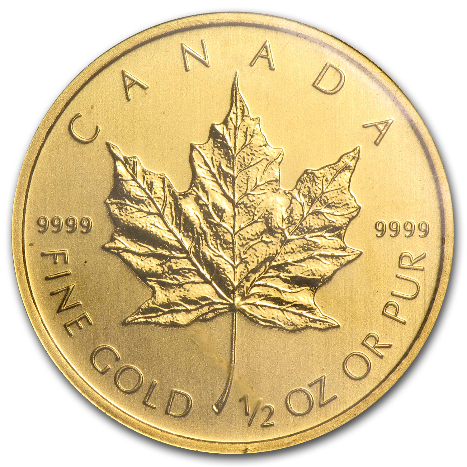2011 1/2 oz Gold Canadian Maple Leaf BU
