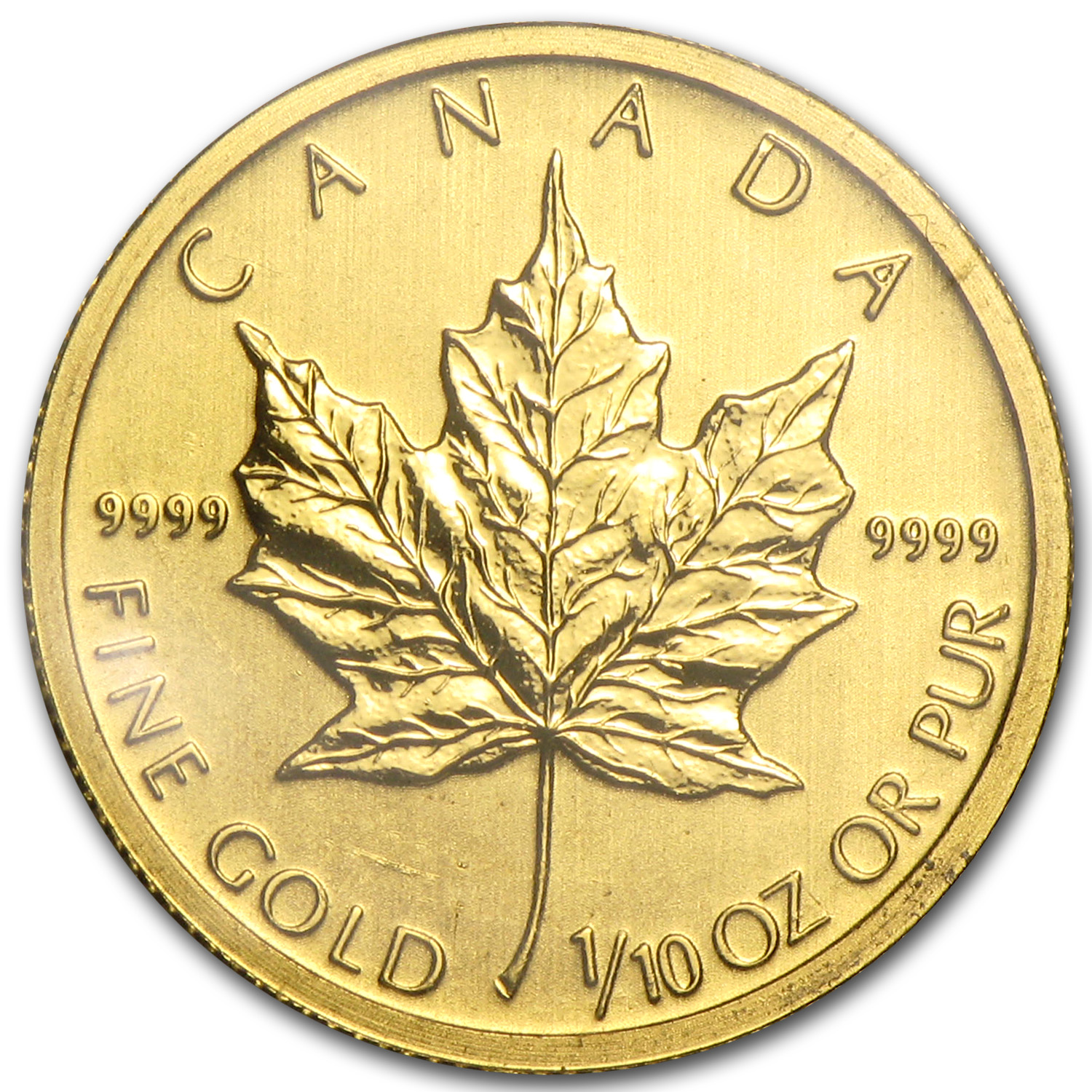 2011 Canada 1/10 oz Gold Maple Leaf BU