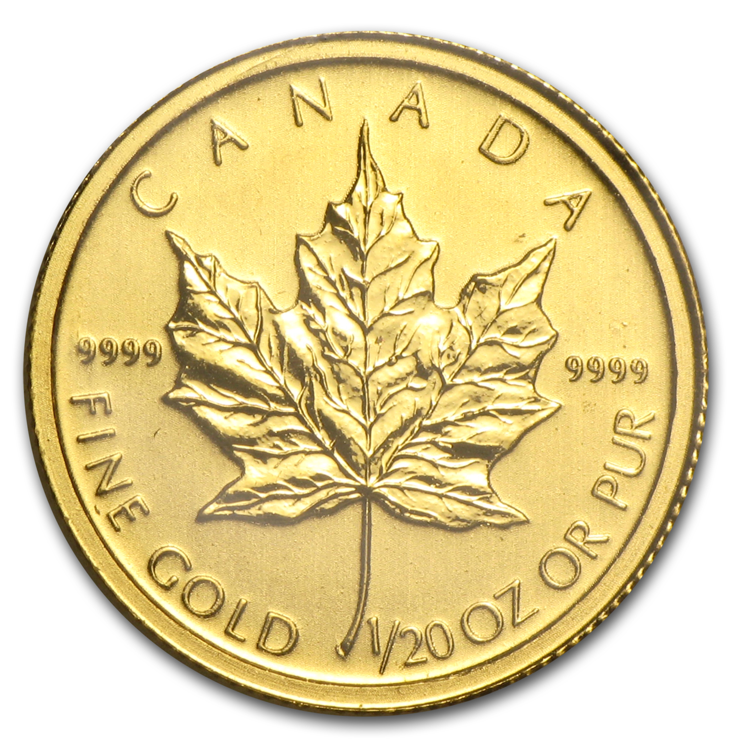 2011 Canada 1/20 oz Gold Maple Leaf BU