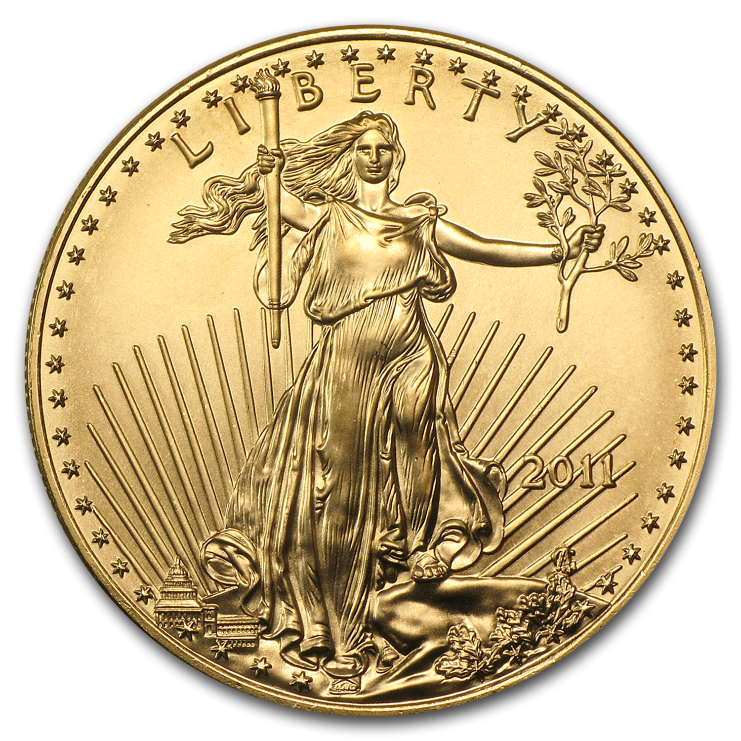 2011 1 oz Gold American Eagle BU