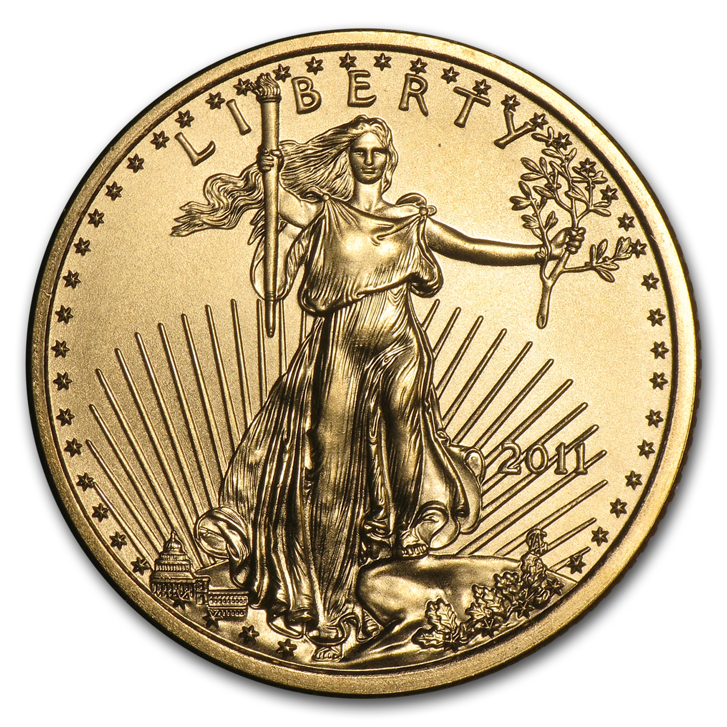 2011 1/4 oz Gold American Eagle BU