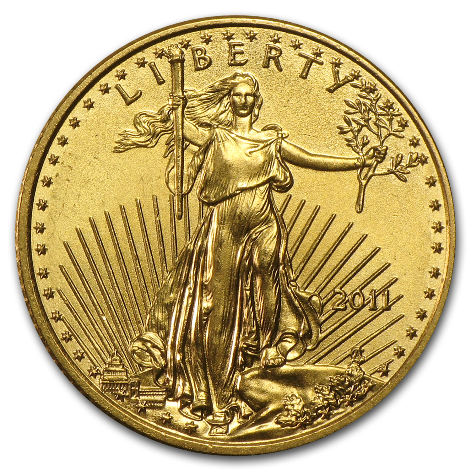 2011 1/10 oz Gold American Eagle BU