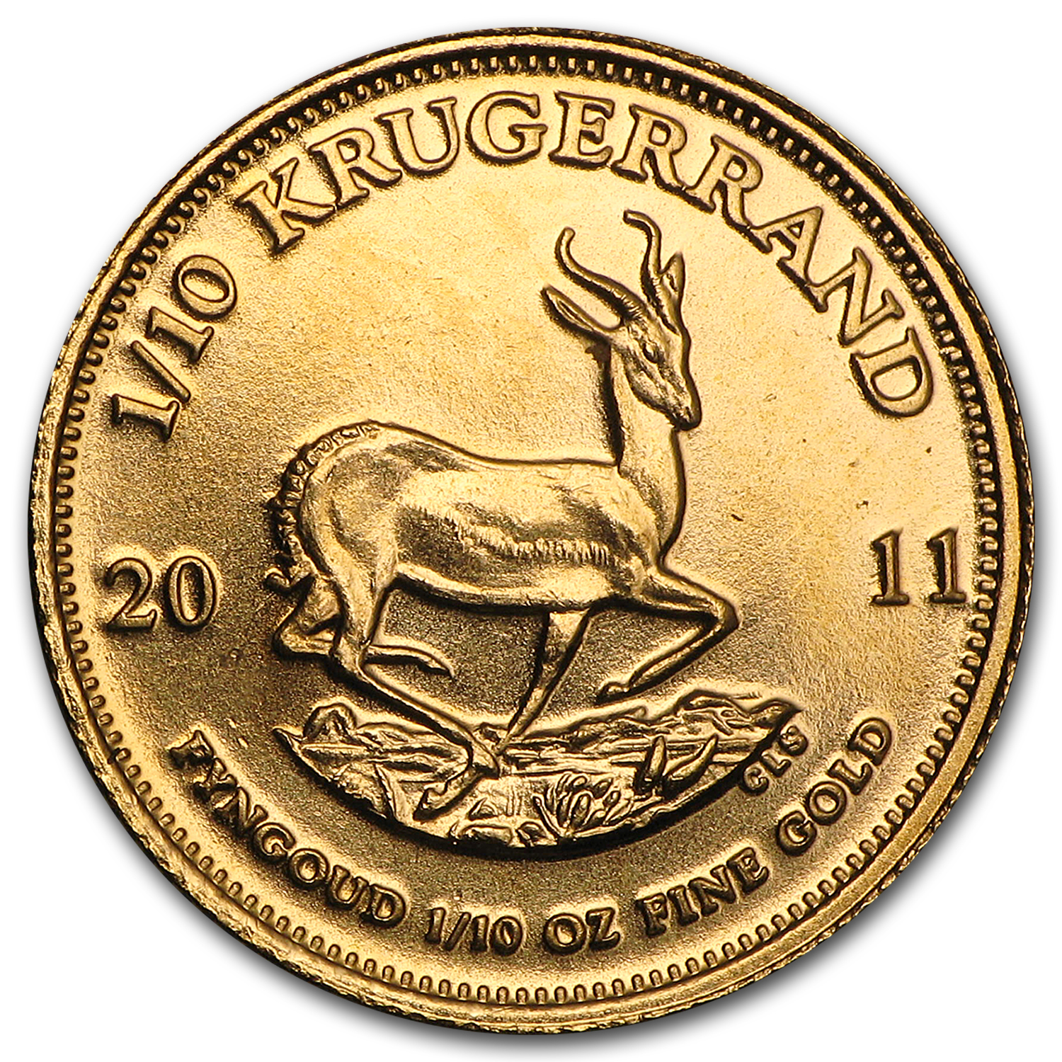 2011 1/10 oz Gold South African Krugerrand
