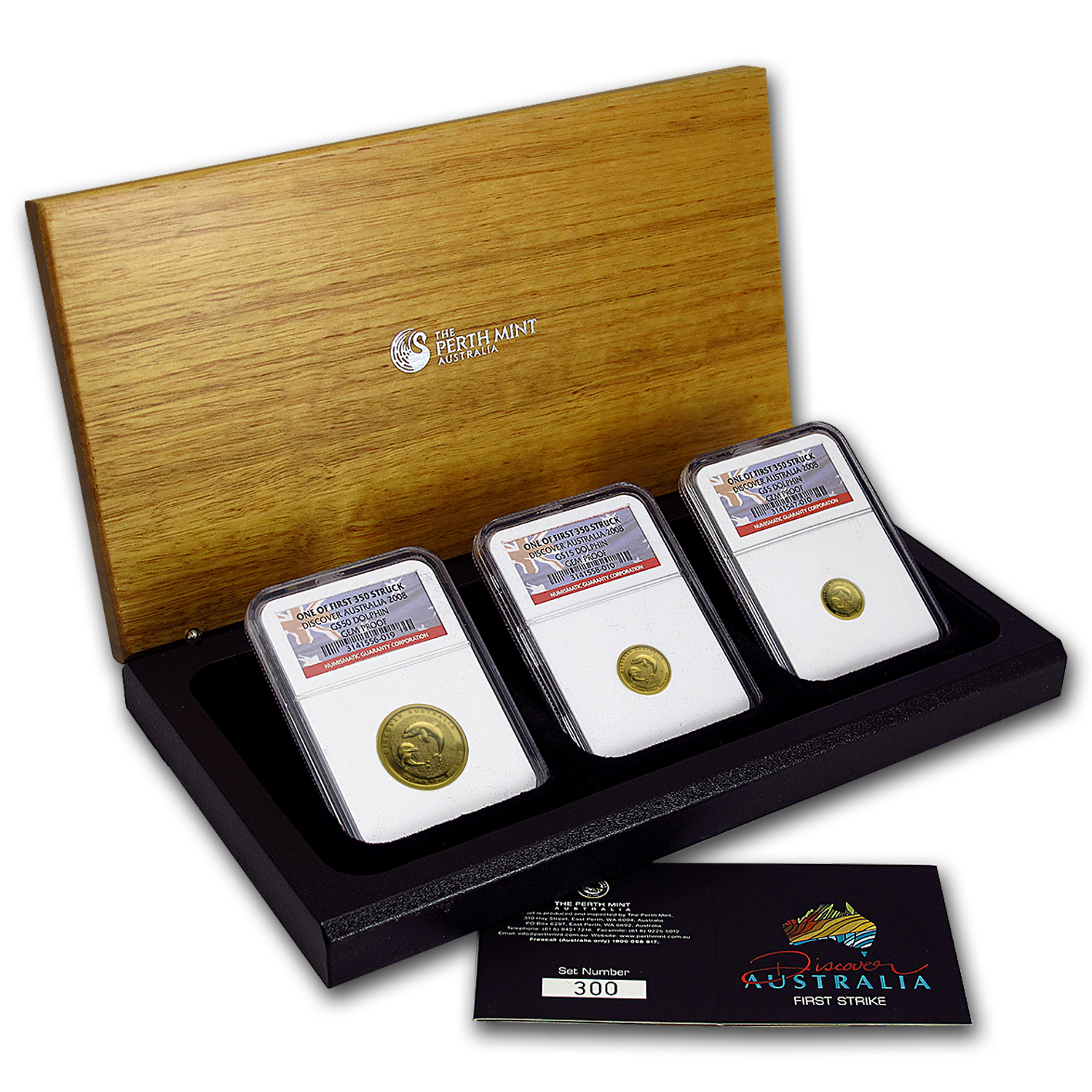 2008 3-Coin Gold Discover Dolphin Proof Set (w/Box & COA)