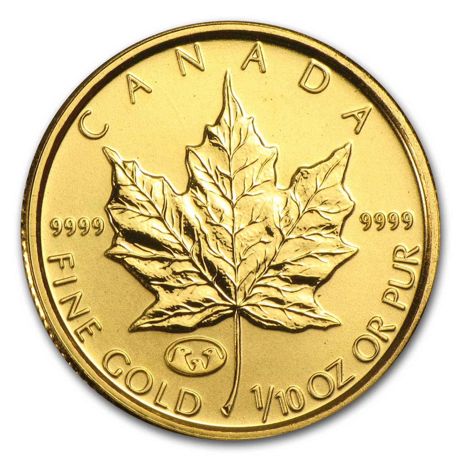 1998 Canada 1/10 oz Gold Maple Leaf BU (Family of Eagles Privy)
