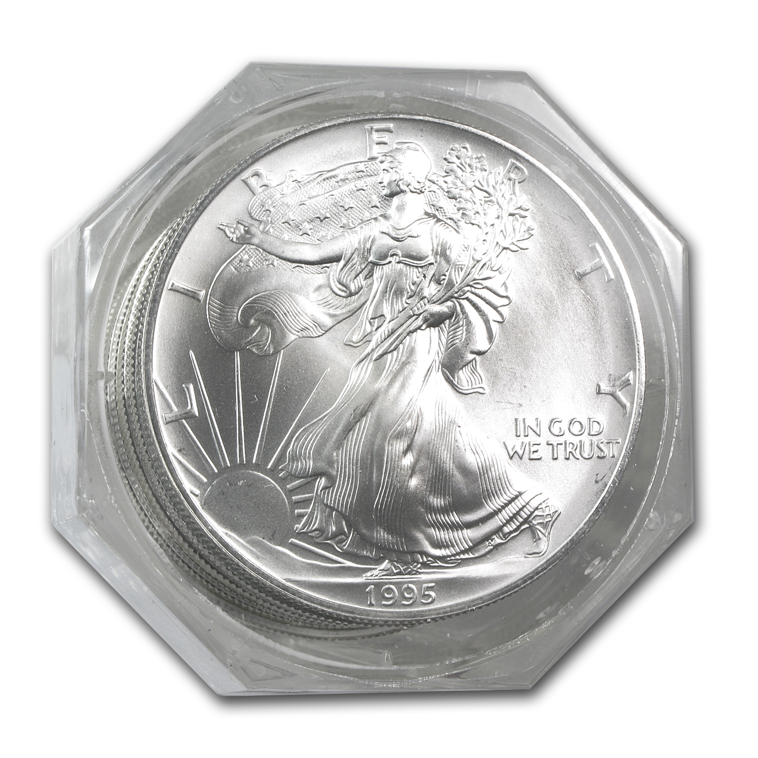 1995 20-Coin Silver American Eagle Sealed Tube PCGS