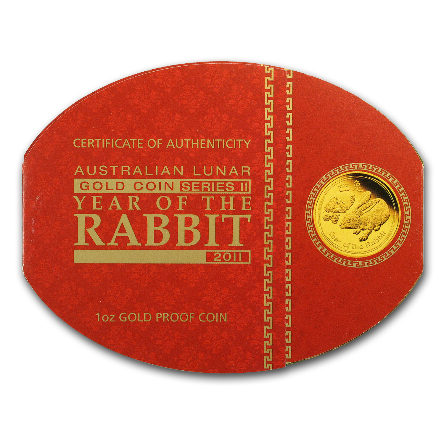 2011 Gold 1 oz Lunar Year of the Rabbit Proof (Series II)