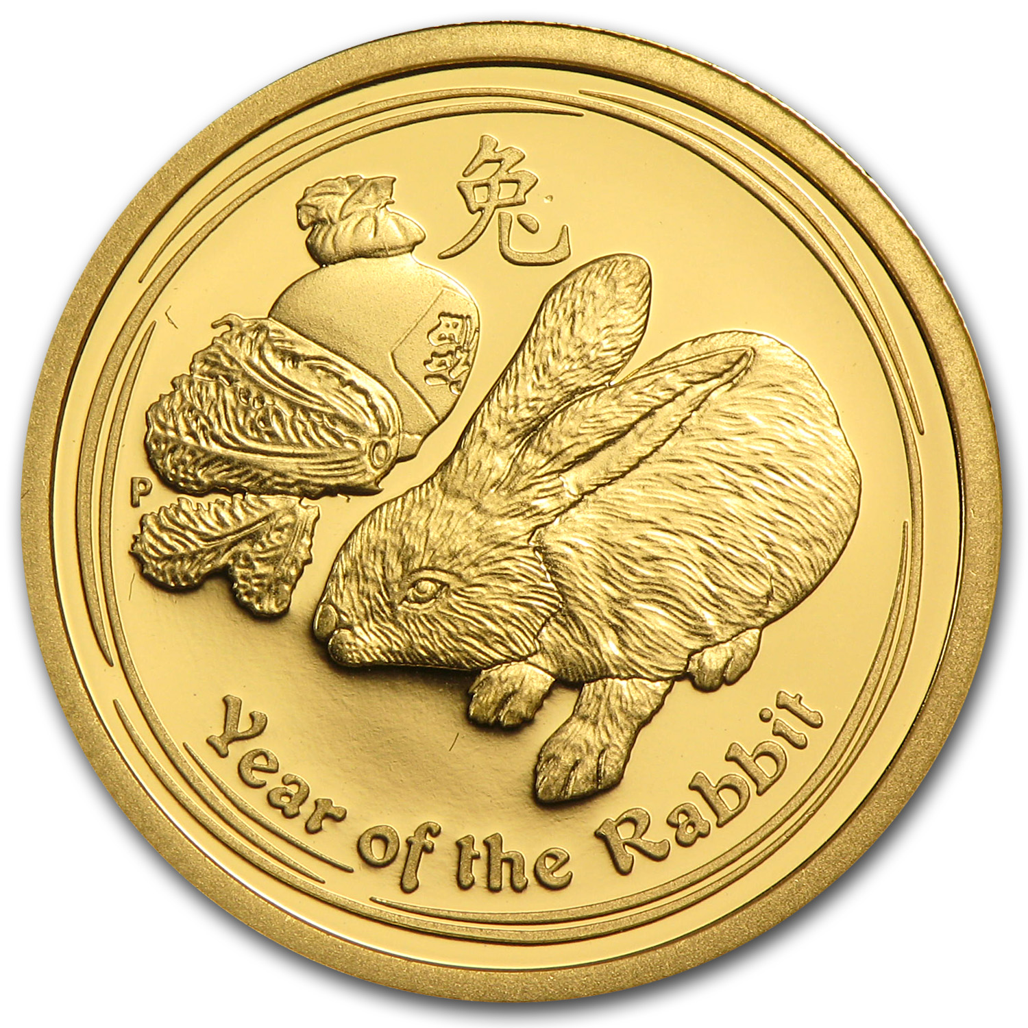 2011 1/4 oz Gold Lunar Year of the Rabbit Proof (Series II)