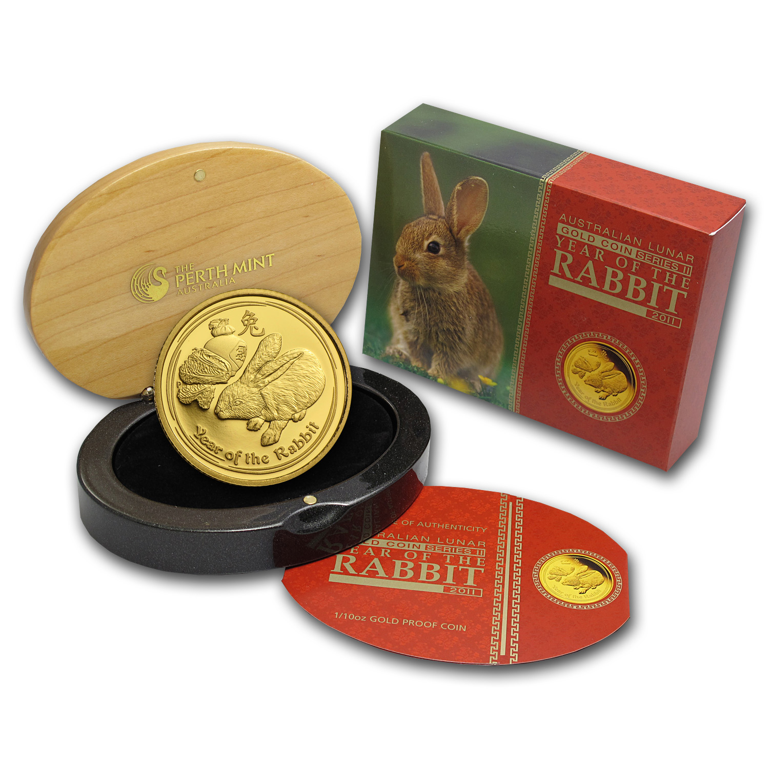 2011 1/10 oz Gold Lunar Year of the Rabbit Proof (Series II)