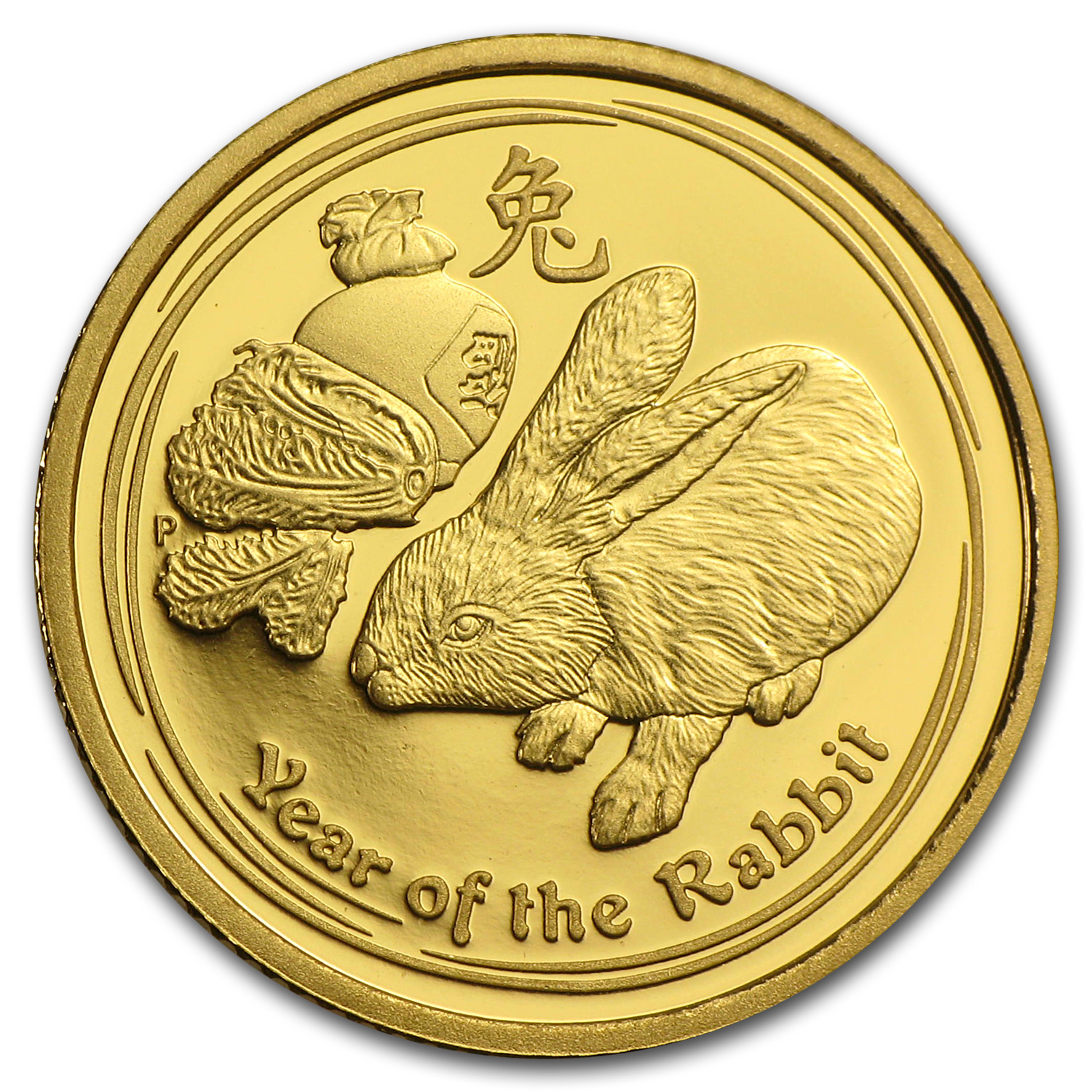 2011 Australia 1/10 oz Gold Lunar Rabbit Proof (Series II)