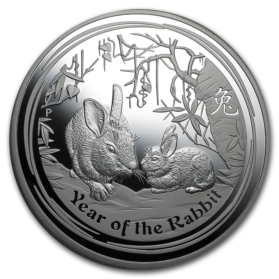 2011 Australia 1 Kilo Silver Year Of The Rabbit Proof