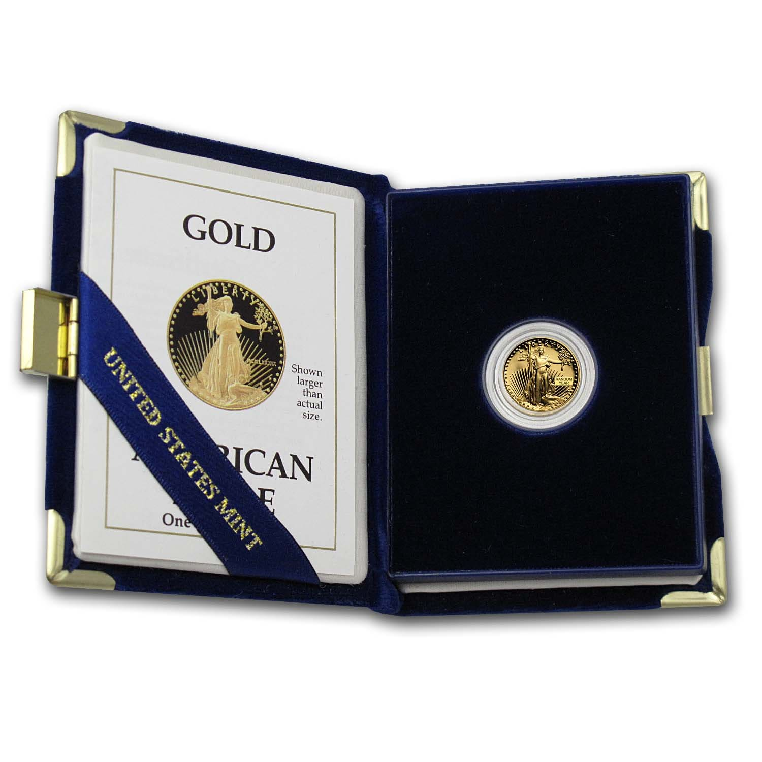 1/10 oz Proof Gold American Eagle (Random Year, w/Box & COA)