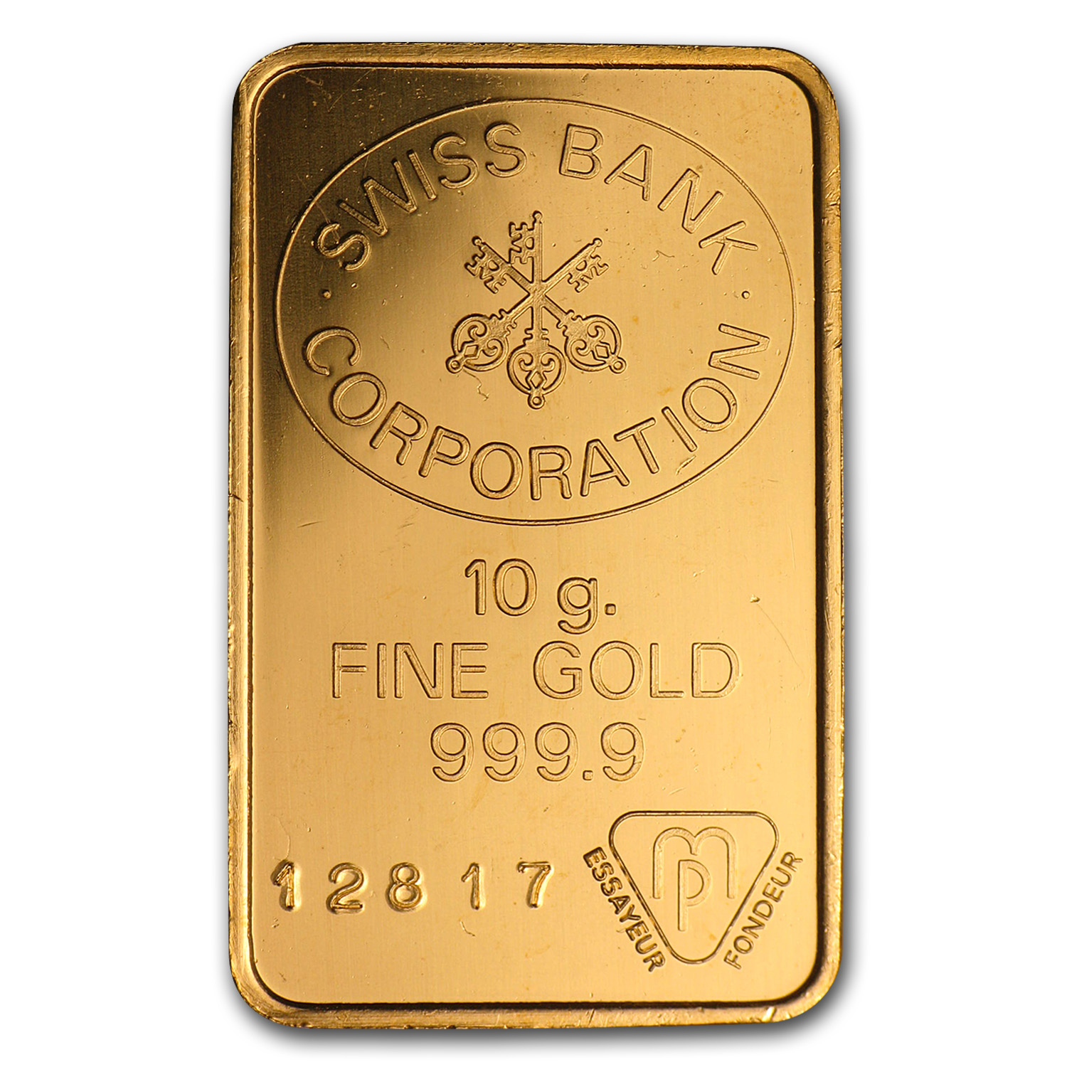 10 gram Gold Bars - Swiss Bank Corporation