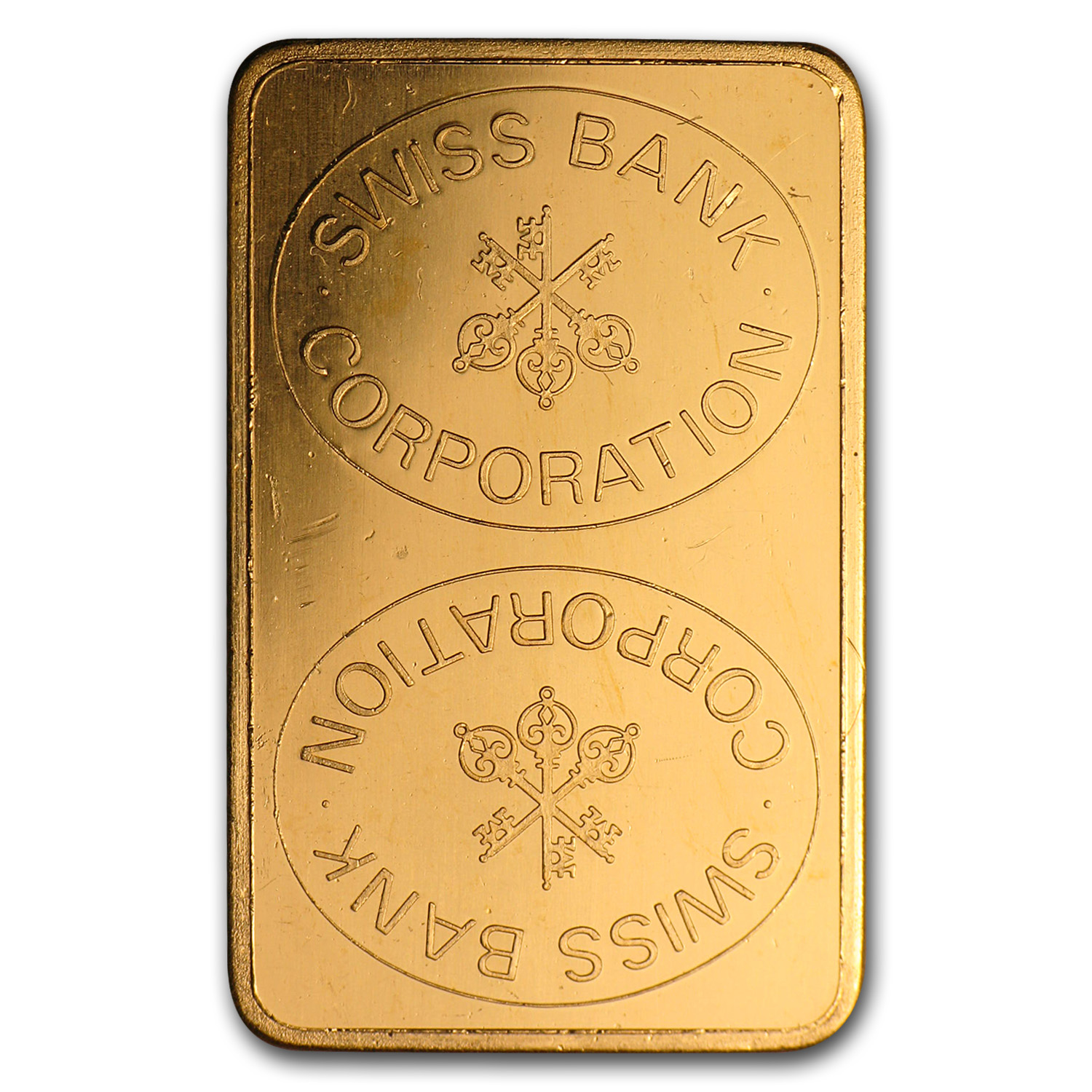 10 gram Gold Bar - Swiss Bank Corporation