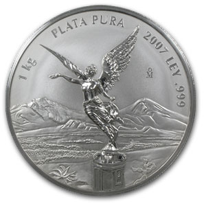2007 Mexico 1 kilo Silver Libertad Proof Like (w/Box & COA)