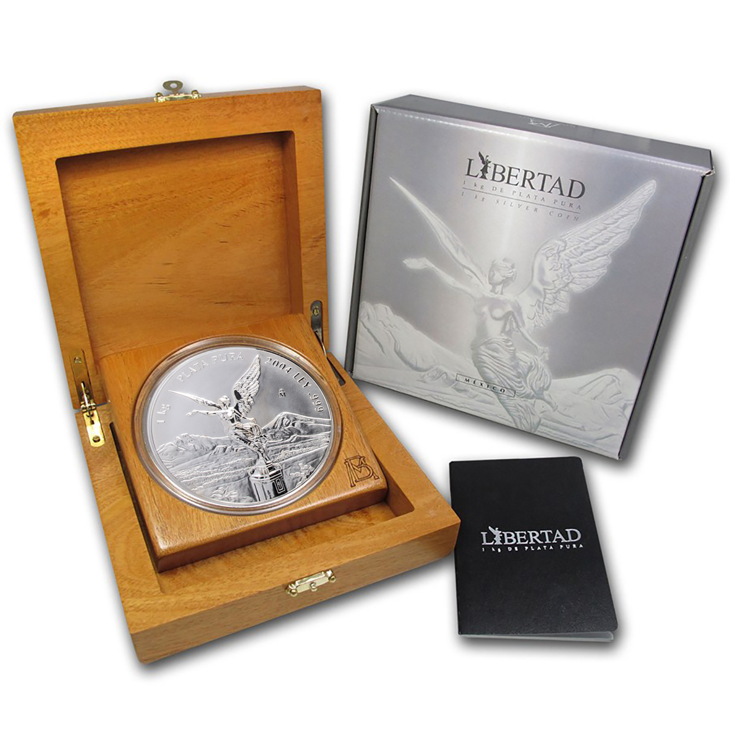 2004 Mexico 1 kilo Silver Libertad Proof Like (w/Box & COA)