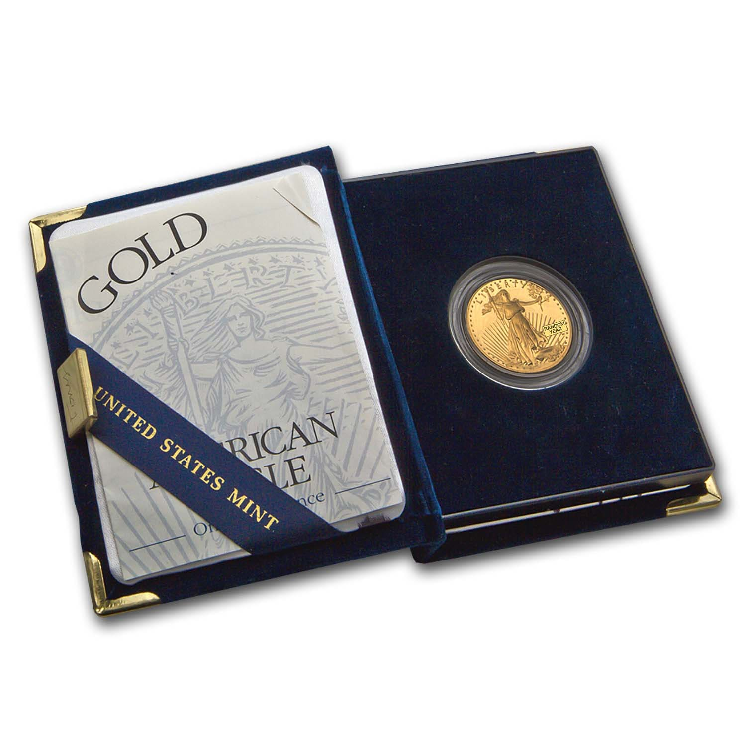 1/2 oz Proof Gold American Eagle (Random Year, w/Box & COA)