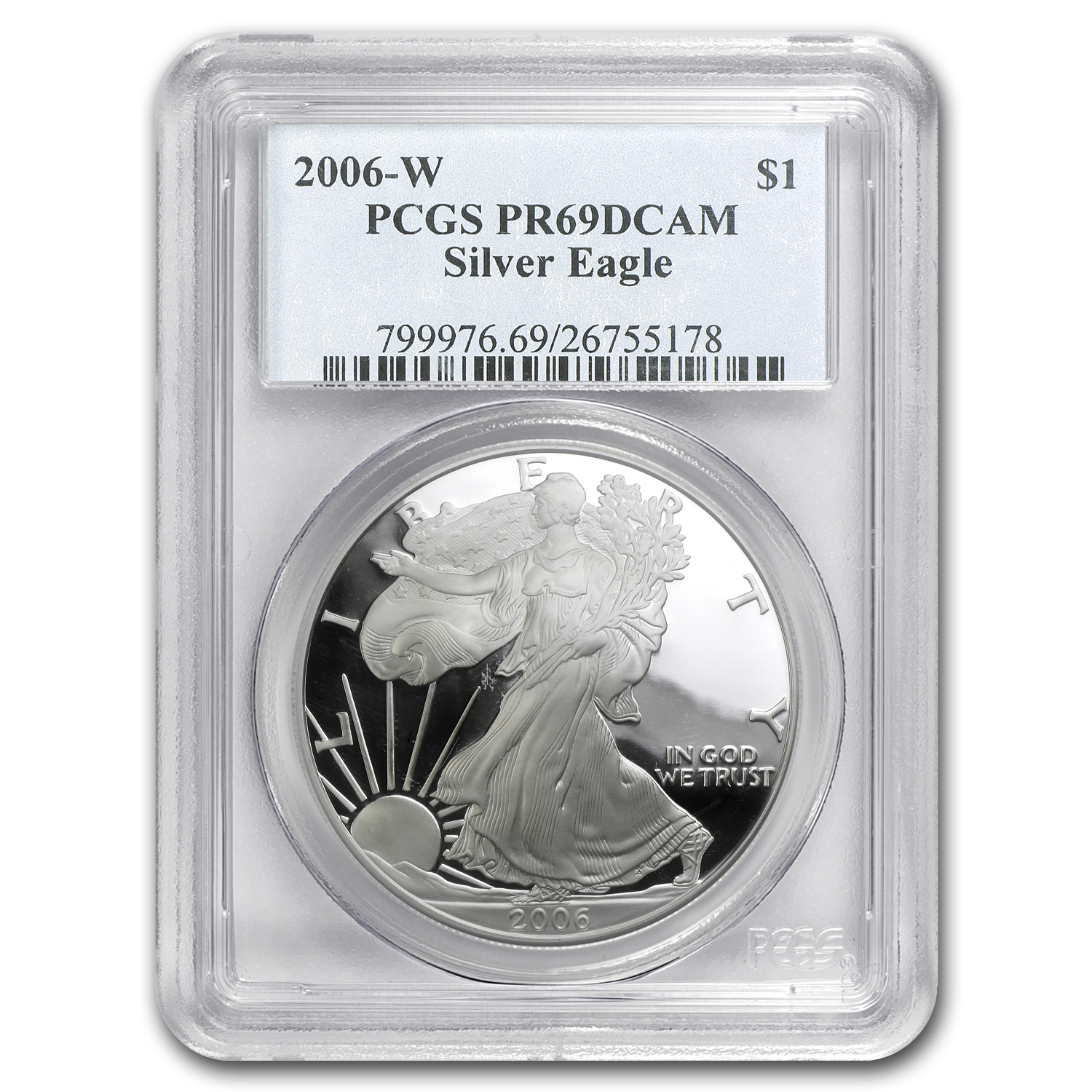 2006-W Proof Silver American Eagle PR-69 PCGS