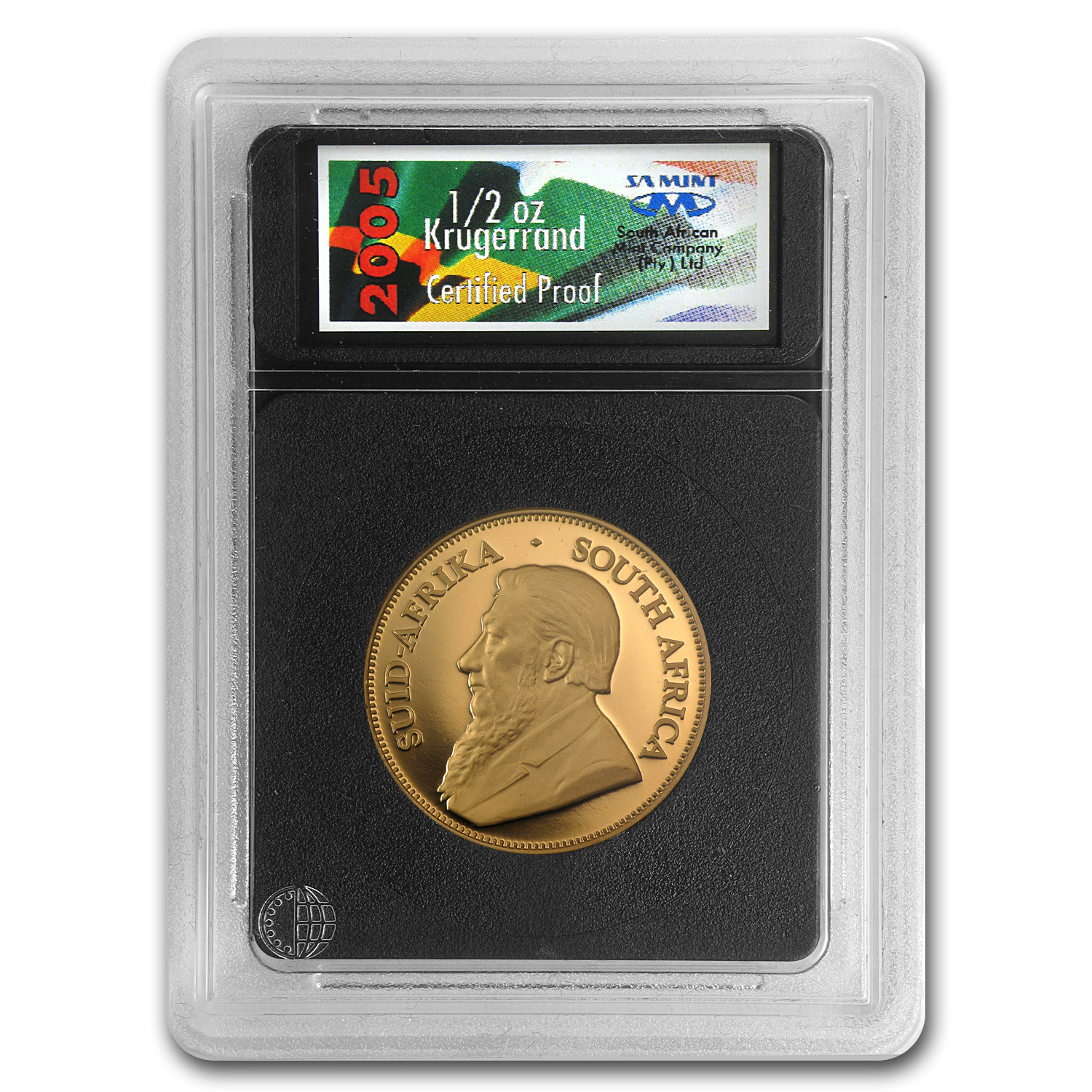 2005 South Africa 1/2 oz Proof Gold Krugerrand (w/Box & COA)