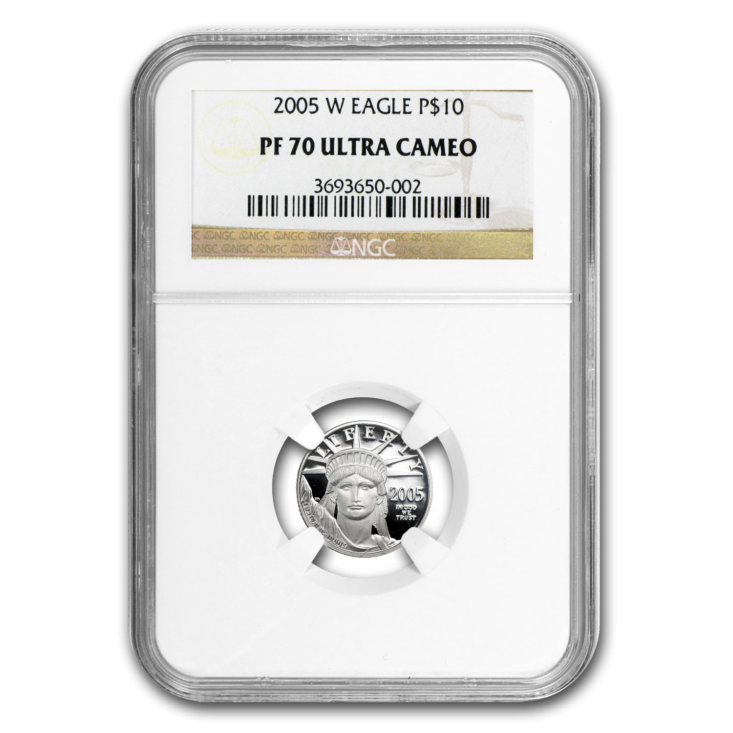 2005-W 1/10 oz Proof Platinum American Eagle PF-70 NGC UCAM