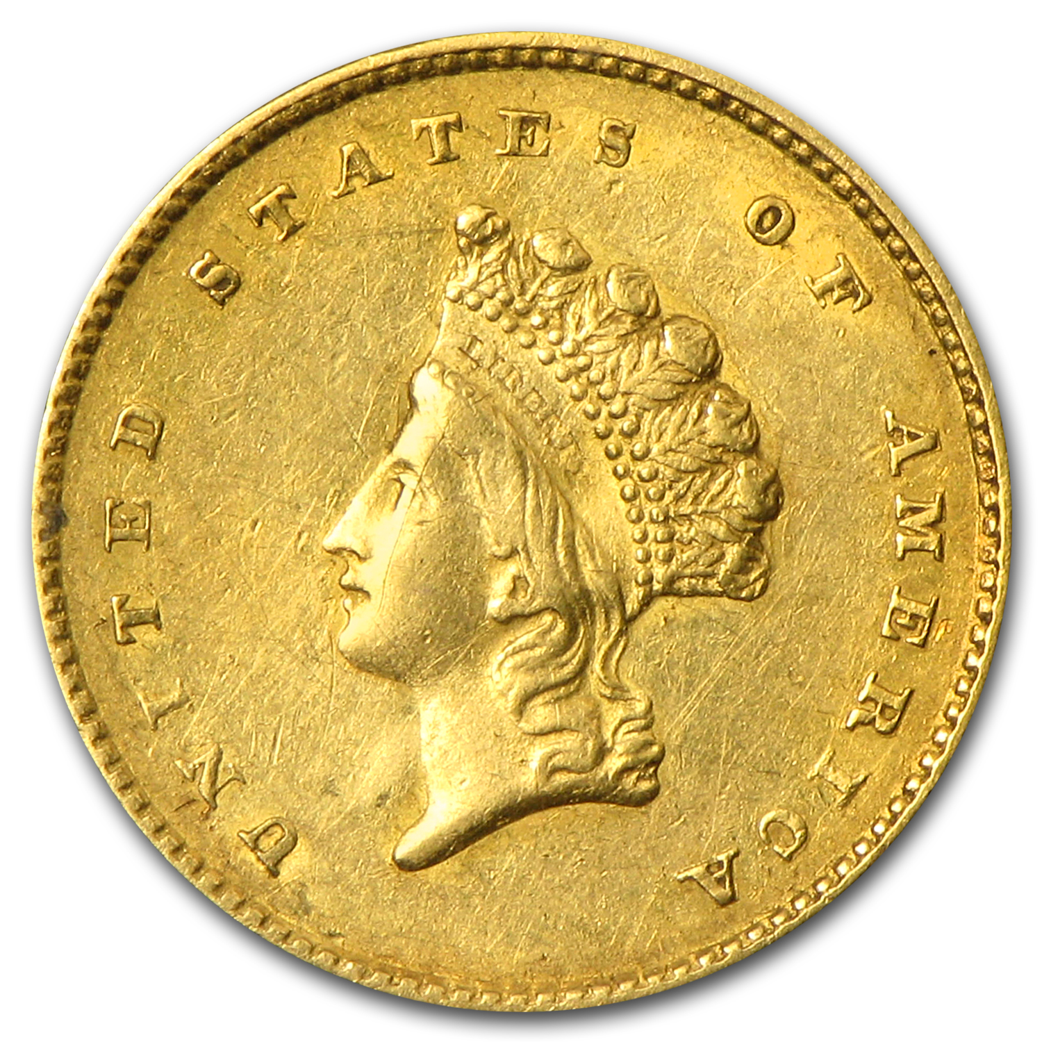 $1 Indian Head Gold Type 2 Extra Fine