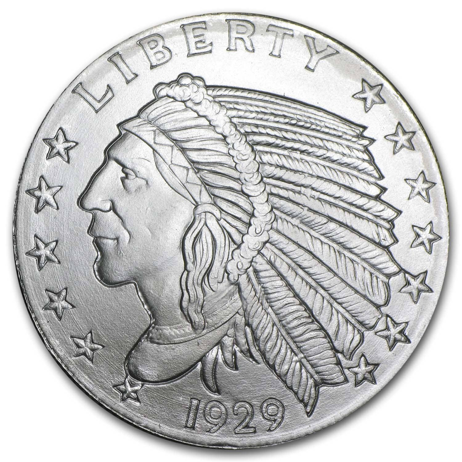 1/2 oz Silver Round - Incuse Indian
