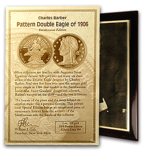 1 oz Gold Rounds - 1906 Pattern Dbl Eagle (NGC, Charles Barber)