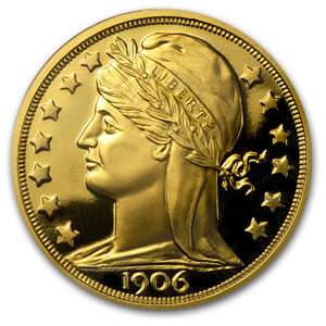 1 oz Gold Round - 1906 Pattern Dbl Eagle (NGC, Charles Barber)
