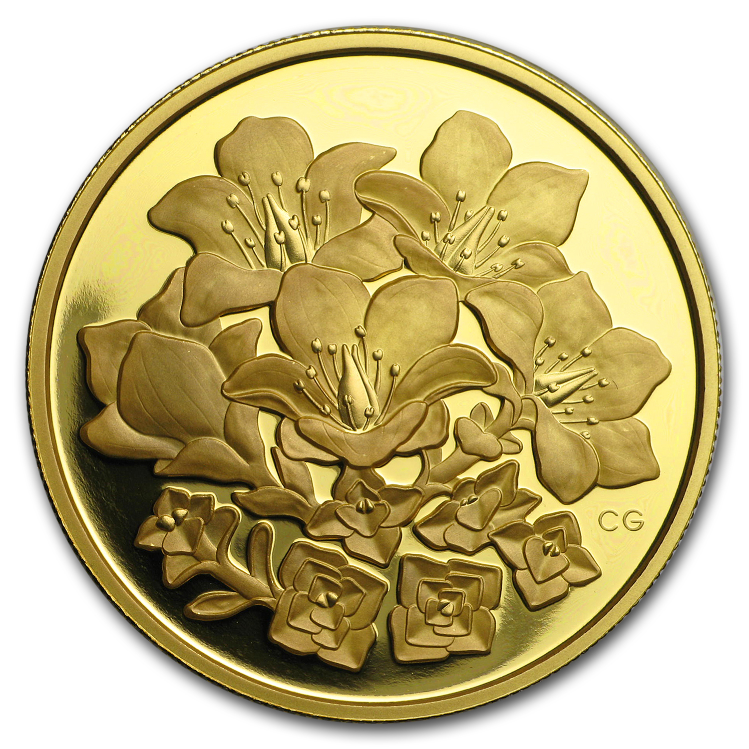 2008 Canada Proof Gold $350 Purple Saxifrage .99999