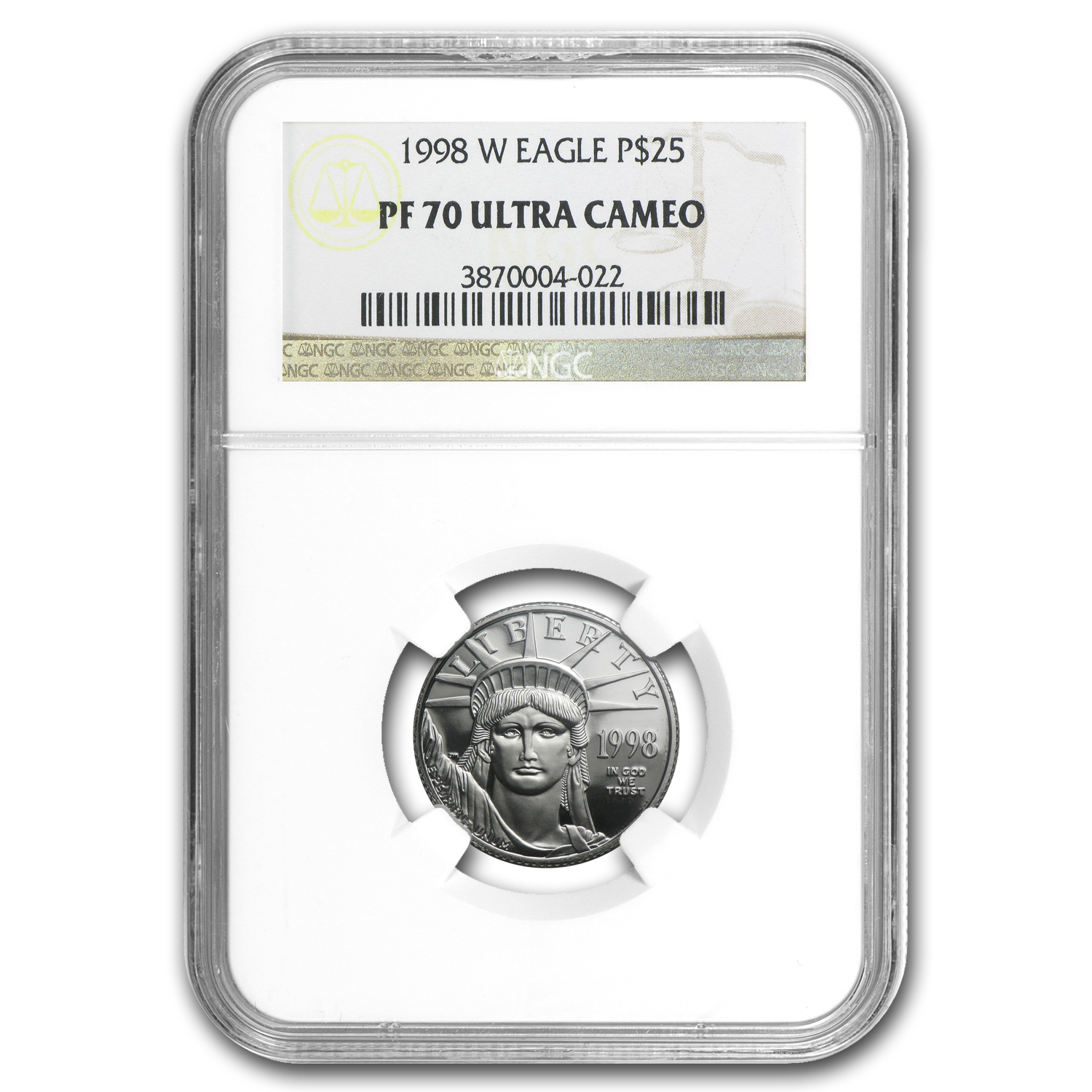 1998-W 1/4 oz Proof Platinum American Eagle PF-70 NGC UCAM