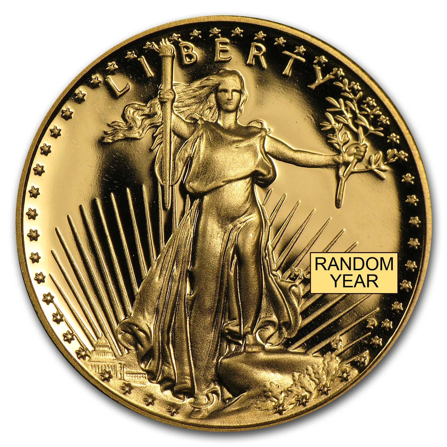 1/4 oz Proof Gold American Eagle (Random Year, w/Box & COA)