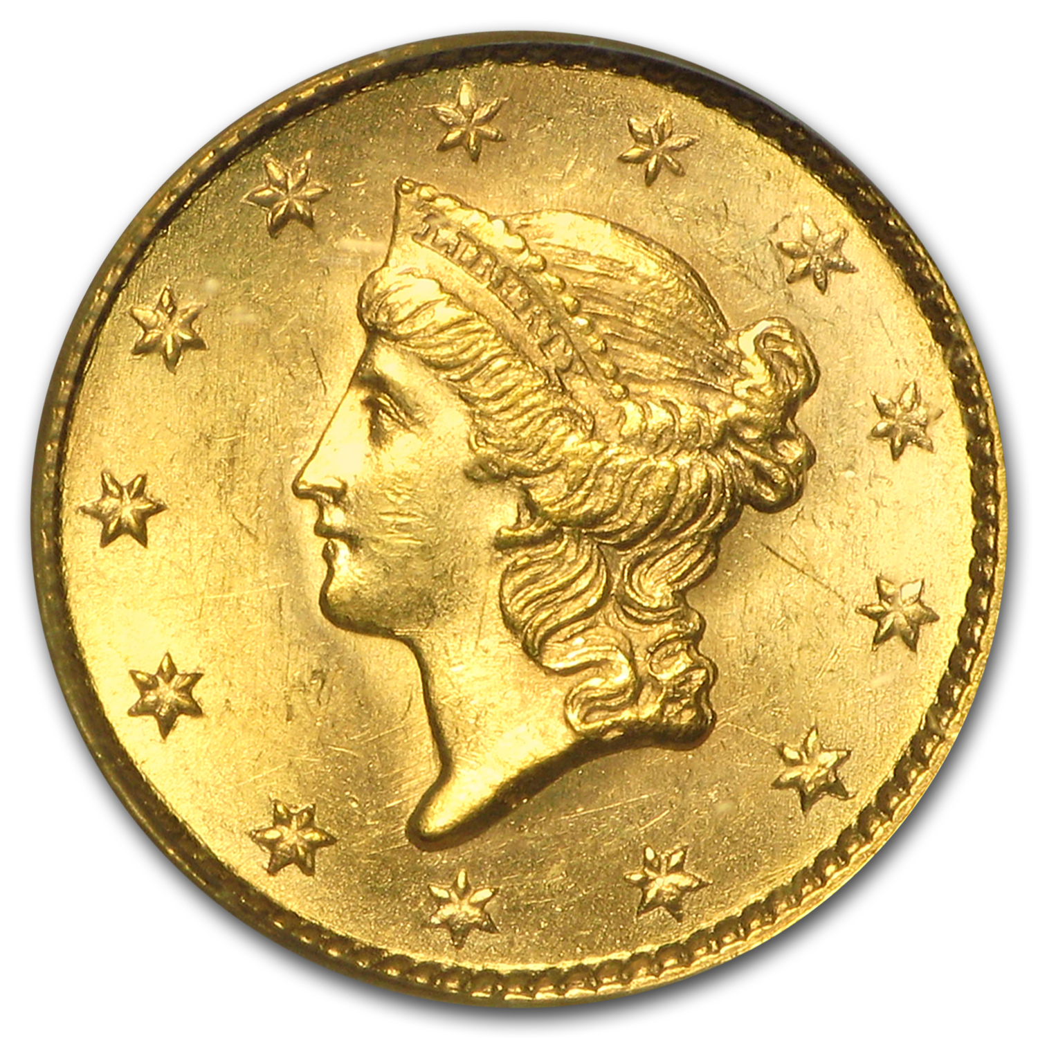 $1 Liberty Head Gold Type 1 MS-64 NGC/PCGS