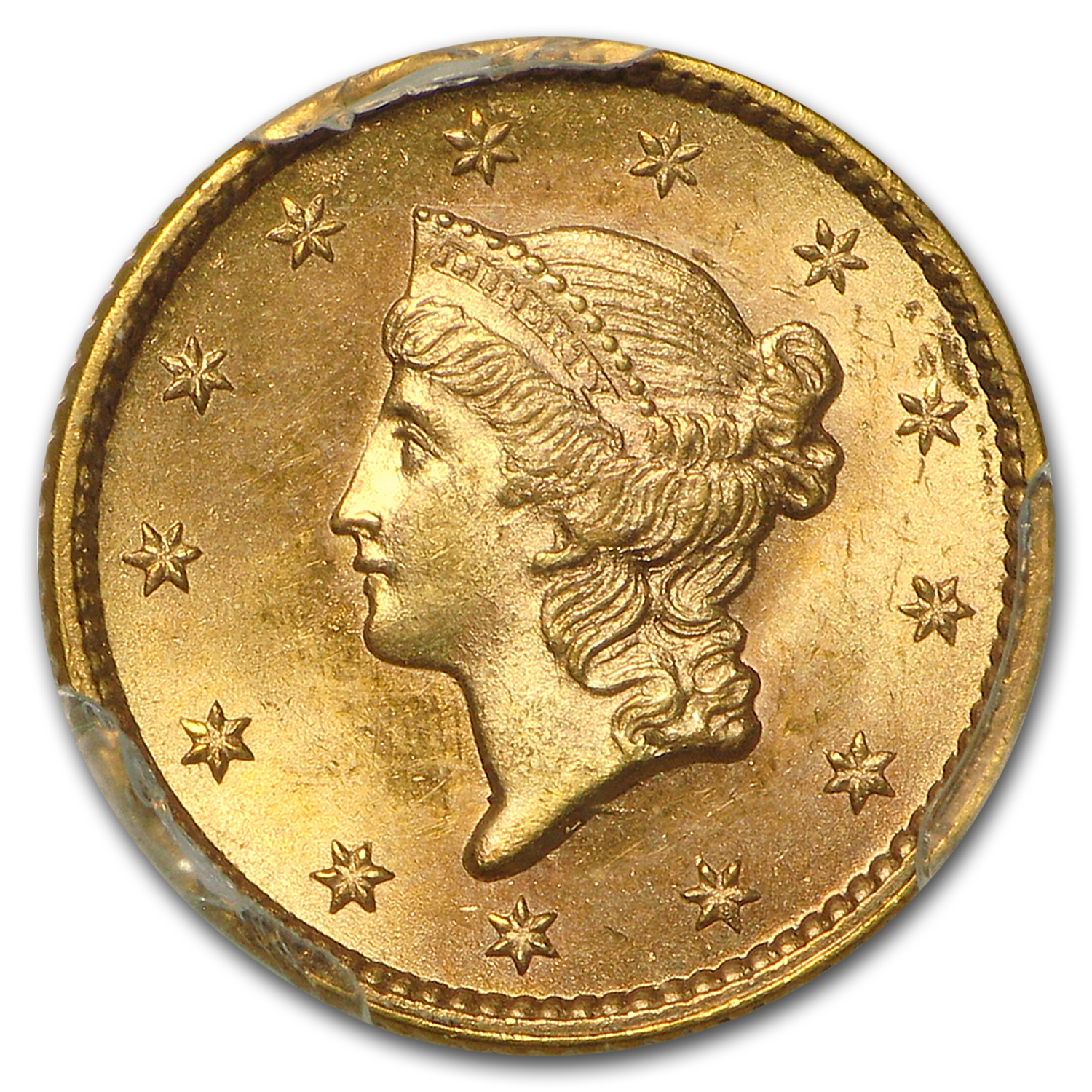 $1 Liberty Head Gold - Type 1 - MS-65 NGC or PCGS