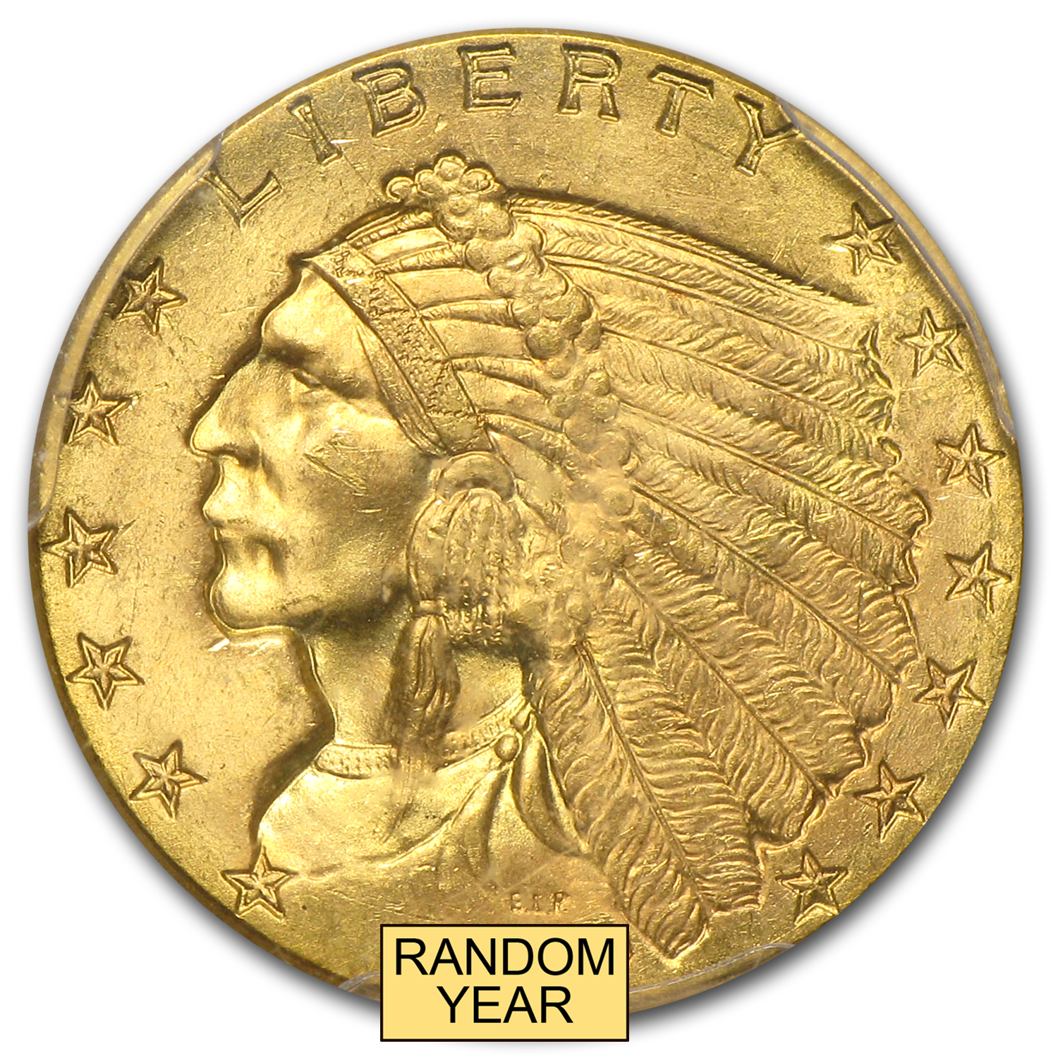 $2.50 Indian Gold Quarter Eagle MS-65 NGC/PCGS