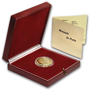 France 1984 Gold 100 Franc Proof Marie Curie - AGW .5028