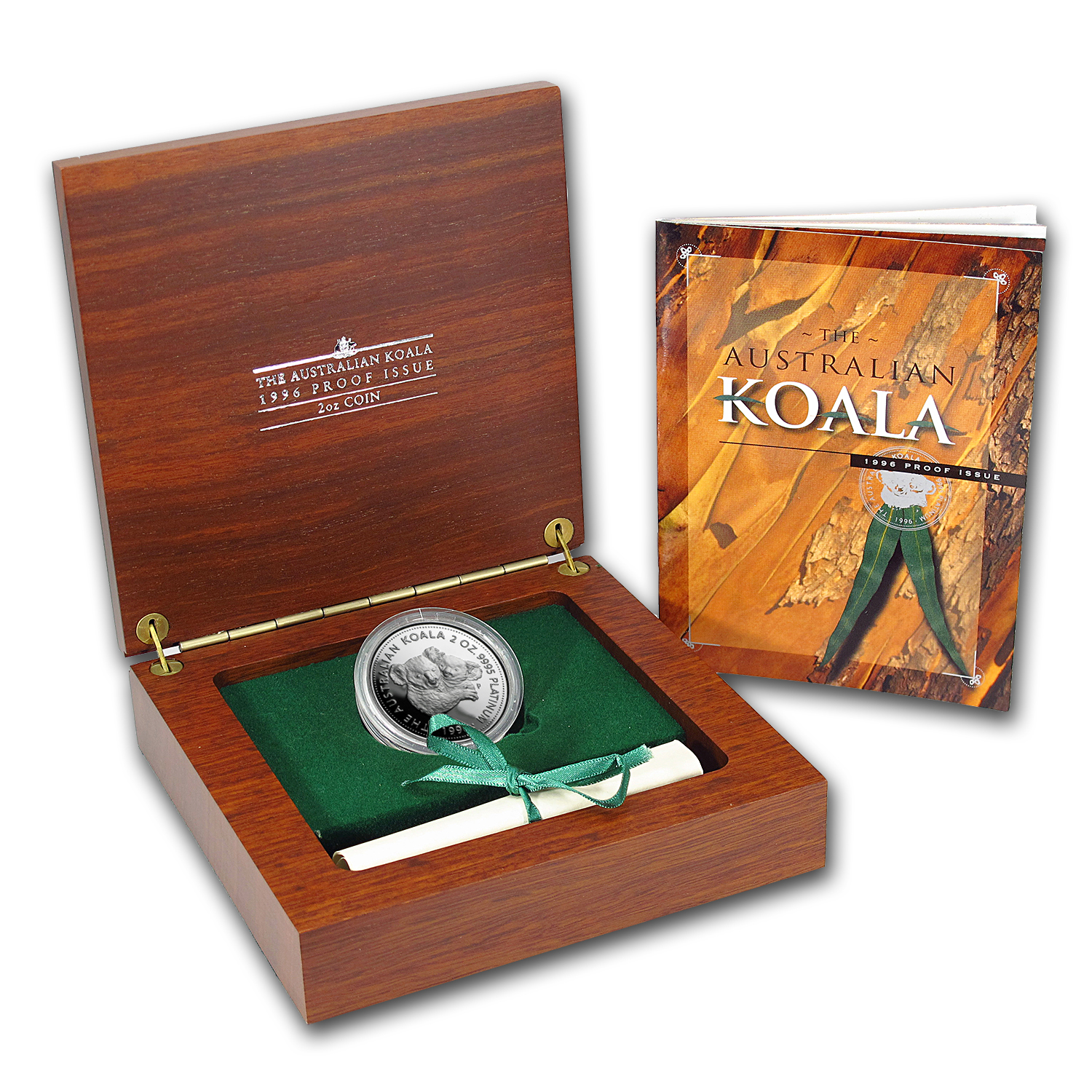 1996 Australia 2 oz Proof Platinum Koala (w/Box & COA)