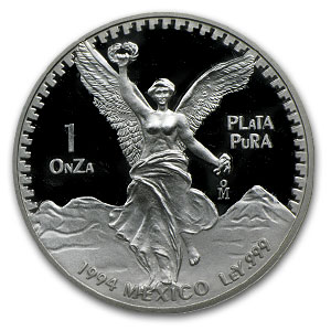 1994 Mexico 5-Coin Silver Libertad Proof Set (1.9 oz)