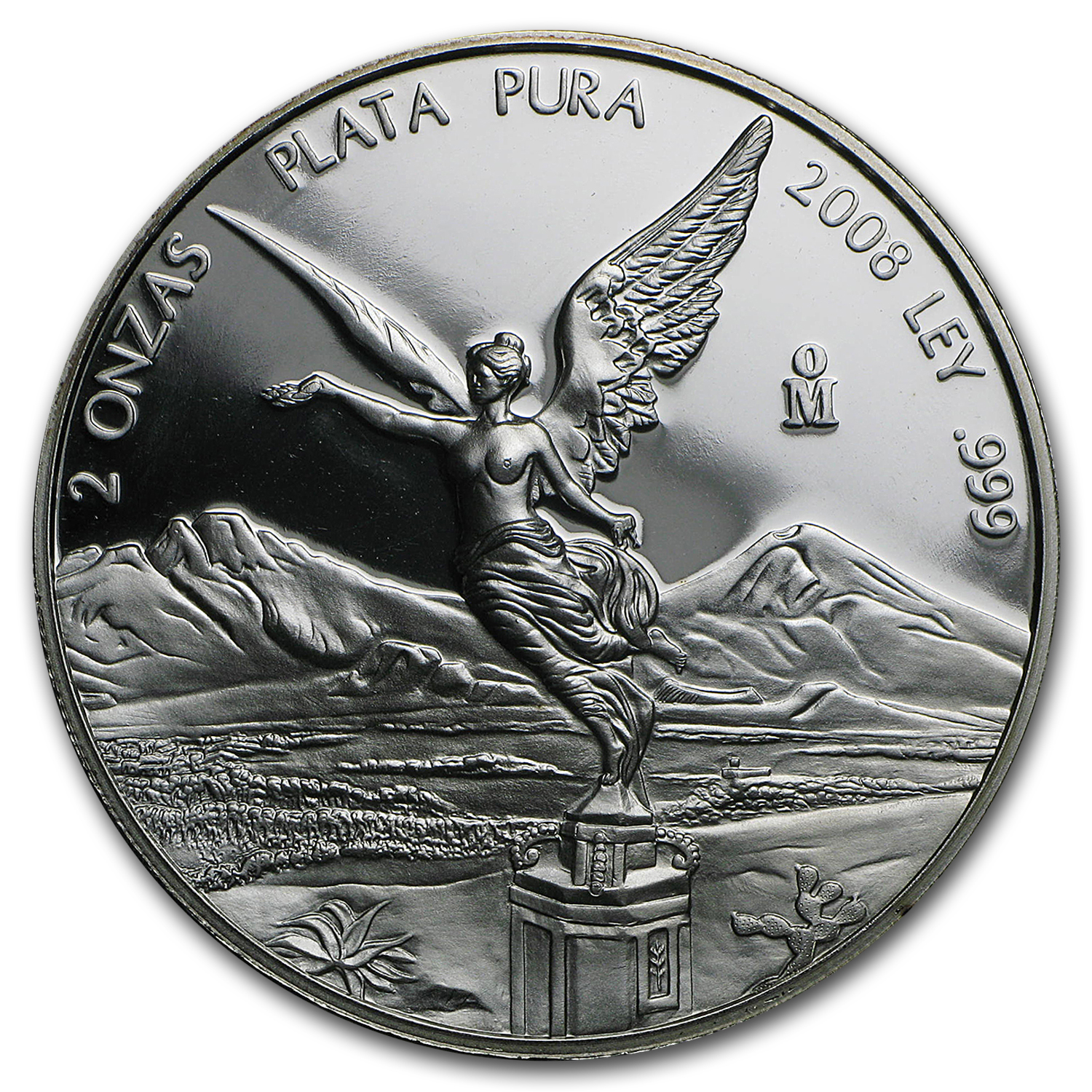 2008 Mexico 2 oz Silver Libertad Proof (In Capsule)