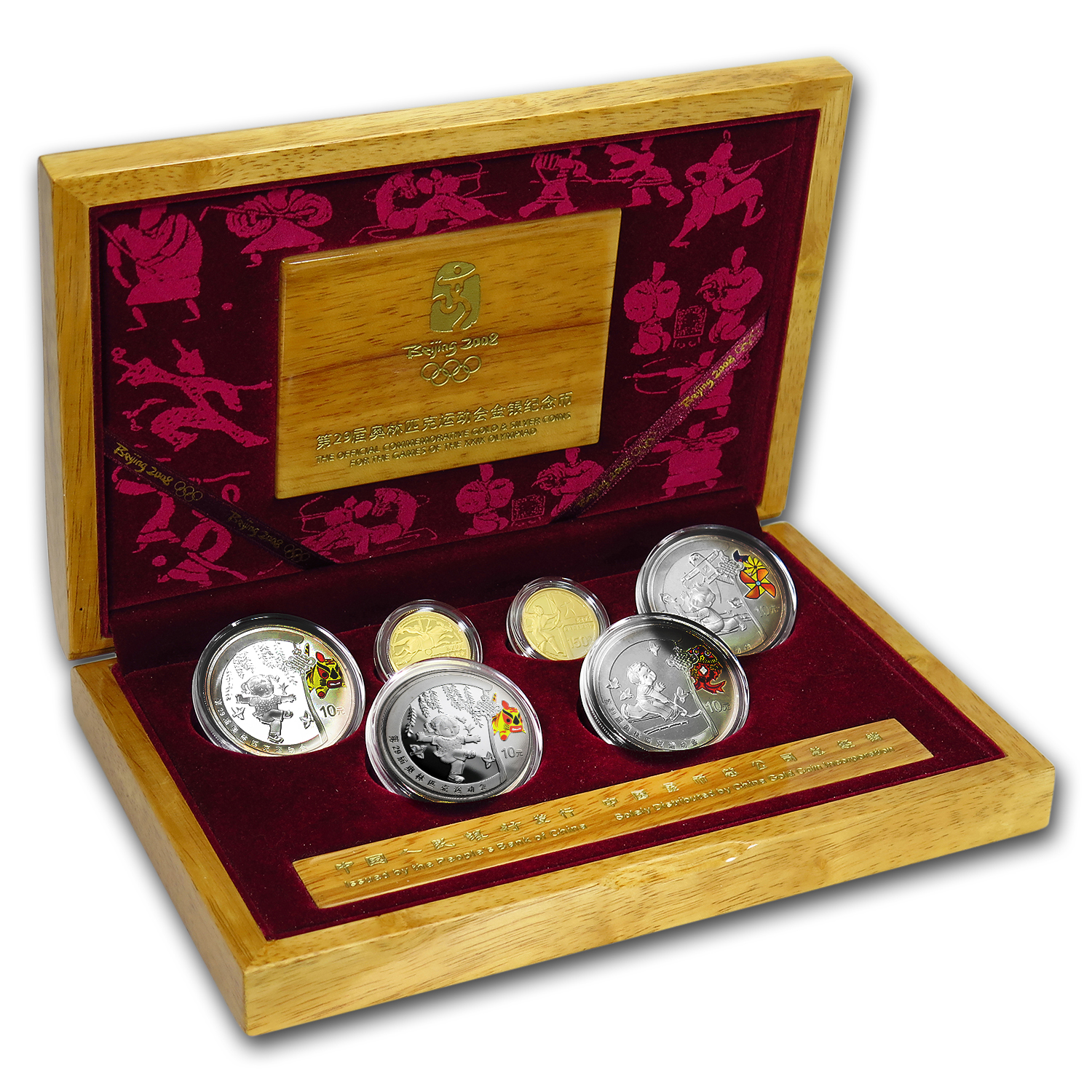 2008 China 6-Coin Gold & Silver Olympic Proof Set (Series III)